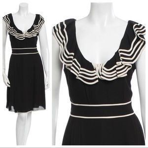 Kate Spade Sailor Ruffle Trim Silk Dress 12